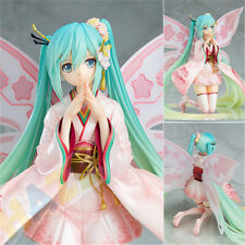 Anime Hatsune Miku Kimono Racing Car PVC Action Figure Collection Toy 22cm