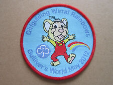 Wirral Rainbows Gulliver's World 2012 Girl Guides Cloth Patch Badge (L3K)