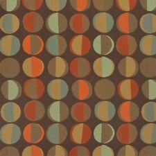 Momentum Phase Lodge  turquoise ,brown, orange modern circles Upholstery Fabric