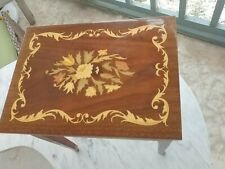 New listing Vintage Mid Century Modern Italian Marquetry Inlaid small Table stand �Nice�