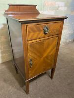Antique Vintage Mahogany Inlaid Bedside Cabinet  .Delivery Available Most Areas