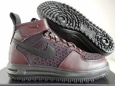 NIKE LUNAR FORCE 1 FLYKNIT WORKBOOT DEEP BURGUNDY-BLACK SZ 12 [855984-600]