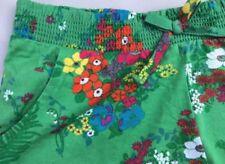 Shorts vert pour fille de 2 à 16 ans en 100% coton