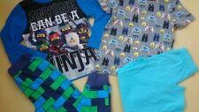 2x NEW LEGO NINJA BOY PYJAMAS SET BUNDLE 5/6 YRS NR2