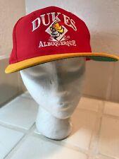 albuquerque dukes Red Cap minor league baseball dodgers affiliate One Size Hat