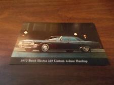 1972 Buick Electra 225 Custom 4-Door Hardtop Vintage Advertising Postcard