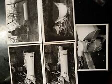 lotto 5 fotografie anni 60 con trattori macchine agricole
