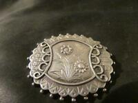 Lovely Victorian Quality Aesthetic Solid Silver Engraved Brooch,
