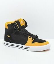 NEW NEW SUPRA VAIDER BLACK GOLDEN WHITE SURF HIP HOP SNOW SKATE SPORTS SHOES 6