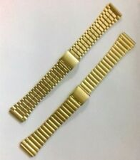 VINTAGE OLD STOCK 18mm Gold Plated Stainless Steel Watch Clip Bracelet Strap