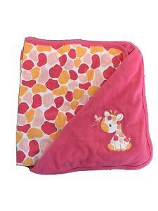 Gymboree JOLLY GIRAFFE baby girls Blanket Swaddling Receiving pink nwt