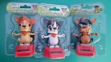 3pc  Solar power dancing chihuahua puppies dog Bobble head toy gift car office
