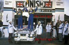 El Señor Vatanen nos & David Richards Ford Escort RS1800 RAC Rally 1981 fotografía 4