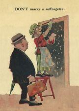 "Vintage Suffragette Propaganda ""DON'T MARRY A SUFFRAGETTE"" 250gsm A3 Poster"