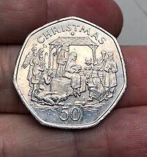Isle of Man - Christmas 1991 50 Pence - 50p - Good Grade