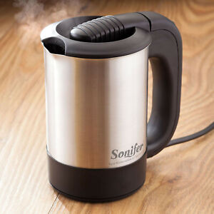 Mini Electric Kettle 500ml Portable Travel Water Boiler 1000W Stainless Steel