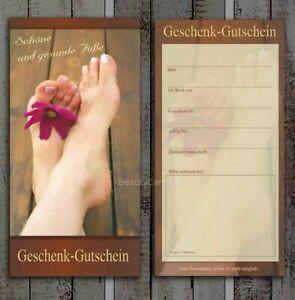 Geschenkgutscheine Gutscheinkarten Fußpflege Podologie Wellness Massage