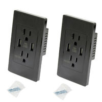 2 Packs Dual 2.1a 2-Port Rapid Charging USB Wall Outlet Conventional Wall Socket