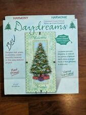 New Dimensions Daydreams Welcome Friends Christmas Cross Stitch Glass Kit 72753