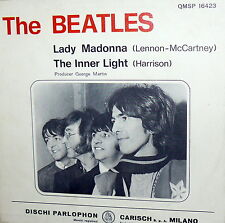 """THE BEATLES LADY MADONNA   7"""" ITALY  1968 QMSP 16423  THE INNER LIGHT- N/MINT"""