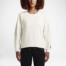 Nike NikeLab Essentials Tech Fleece Crew Sweatshirt- Women's Small/ Off-White