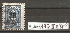 Memelgebiet Mi-Nr.: 197 Type II sauber gestempelt tief geprüft Huylmans.BPP
