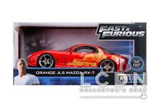 Fast & Furious Orange Julius JLS Mazda RX-7 30747 1/24 JADA TOYS