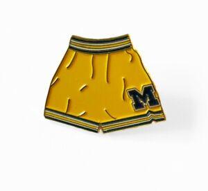 Michigan Wolverines Fab Five Nike Shorts Pin Basketball