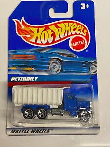 1999 Hot Wheels Peterbilt Blue Dumptruck International Card VHTF NIP
