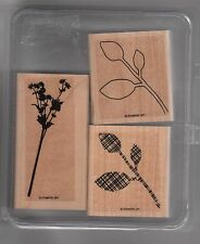 Stampin' Up!  Wood Mounted Stamp Set Central Park Rubber on wood box 3 stamps