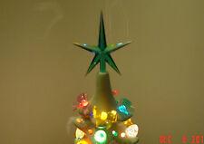 1 MED Star Iridescent Aqua Aurora ceramic Christmas Tree Top Twist light flame