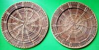 Vintage Wicker Straw Rattan Woven Trivets Placemats Mats Wall Hangings Decor Art