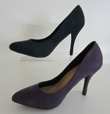 Spot On F9672 Ladies Court Shoes In Navy Or Purple Microfibre Sizes 3 to 8 R2B