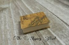 Miniature Book Charm Book Pendant REAL Book Charm Miniature Journal Map Cover