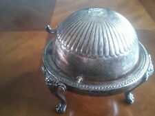 New listing Vintage F. B. Rogers Footed Silver Plate Candy Dish With Attached Lid