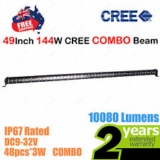49inch 144W SLIM CREE LED Light Bar Work COMBO Beam Truck ATV SUV 4WD Car 12V