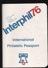 UNITED STATES INTERPHIL76 PHILATELIC EXHIBITION PASSPORT COMPLETE WITH STAMPS zz
