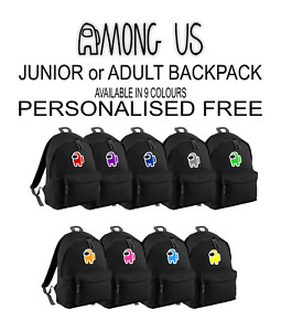 AMONG US inspired MERCH Gaming BACKPACK or GYMBAG free UK 1st Class Signed Post