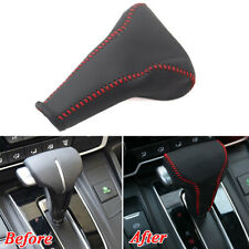 FOR Honda CRV 2017+ Car Gear Shift Knob Stick Leather Hand-Stitched Cover Trim