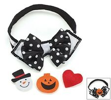 Pet Dog Collar Bow Tie With Removeable Felt Attachment for Christmas or Dress Up