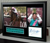 "Frankie Dettori Enable Framed Canvas Tribute Print Signed Ltd ""Great Gift"""