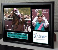 "Frankie Dettori Enable Framed Canvas Tribute Print Signed Ltd ""Great Gift"""