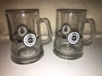 Set Of 2 German WARSTEINER Beer Stein Glasses Eine Königin Unter Den Bieren Gold