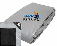 1.7m x 2.3m Silver Black Poly Tarp Heavy 185GSM Waterproof Strong Camping Cover