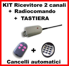 KIT Ricevitore per cancelli automatici + radiocomando + Tastiera  433 mhz