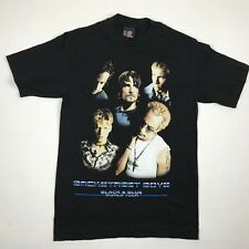 Backstreet Boys Black & Blue World Tour 2001 Graphic T Shirt sz. Small