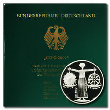 Germany  Expo 2000 10 Mark 2000 A-D-F-G-J 5 Proof Silver Coin Folder