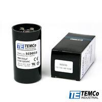 Motor Start Capacitor SC0029-378-454 mfd 110-125 V VAC Volt uf Round HVAC TEMCo AC Electric