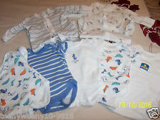 Baby boys bundle 5 vests 2 babygro's TINYBABY
