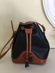 Vintage  Dooney & Bourke Black AWL Drawstring Bucket Bag
